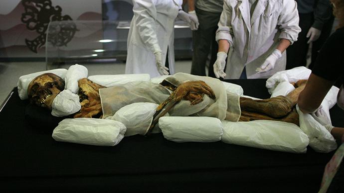 Открит е канабис в гроба на сибирска принцеса