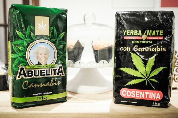 Чай мате с коноп по магазините в Уругвай