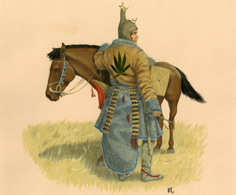 Древно племе, съвременници на траките, използвало коноп за свойте ритуали